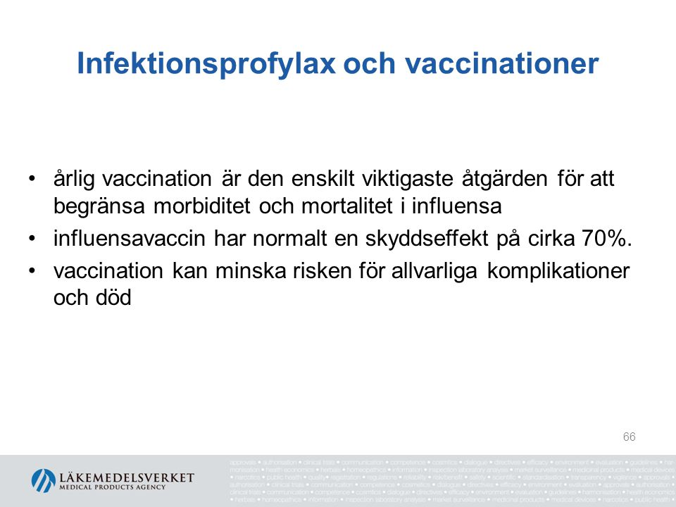 Infektionsprofylax och vaccinationer