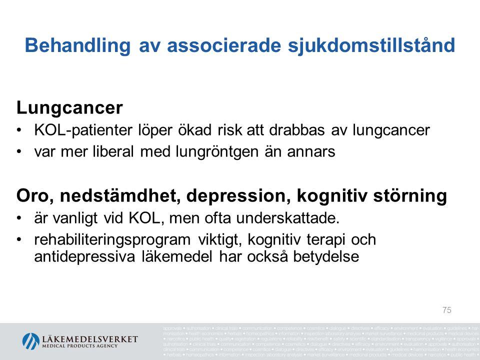 Behandling av associerade sjukdomstillstånd