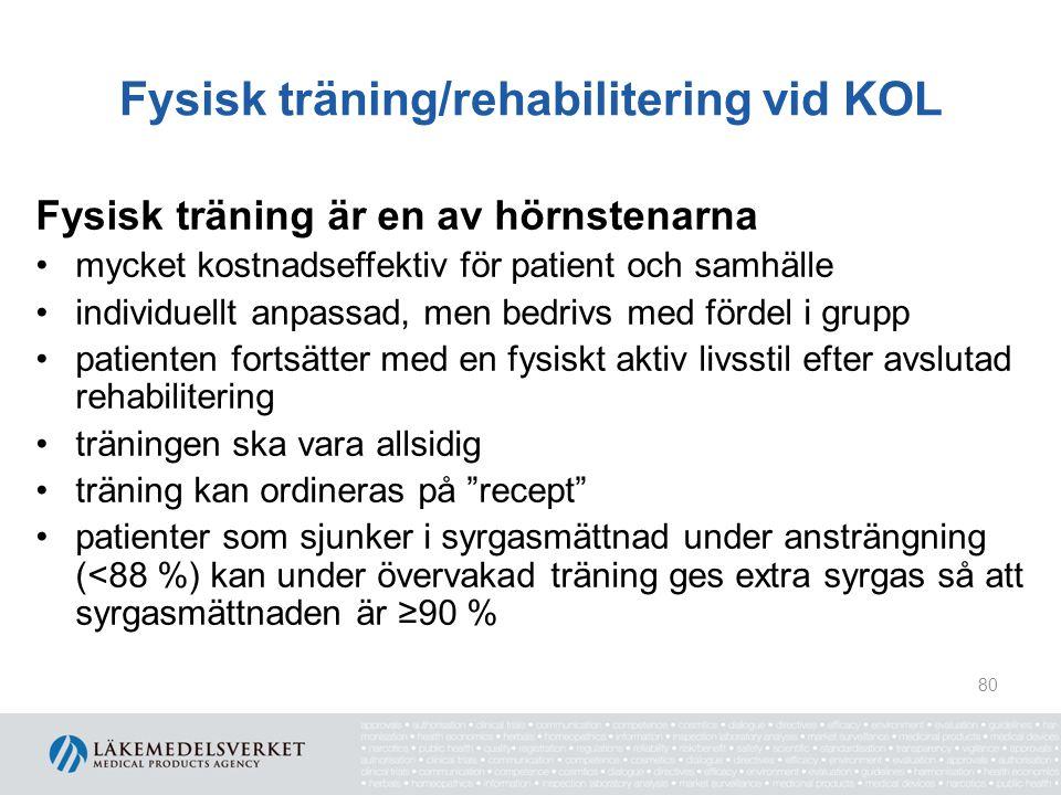 Fysisk träning/rehabilitering vid KOL
