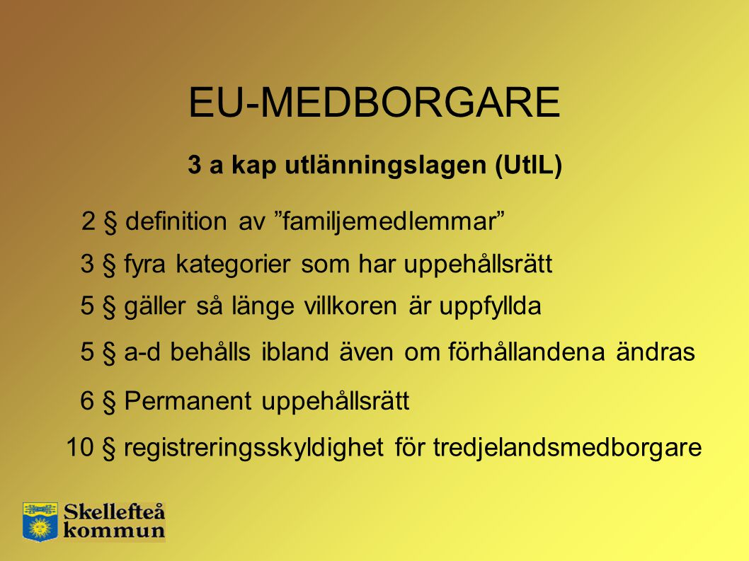 3 a kap utlänningslagen (UtlL)