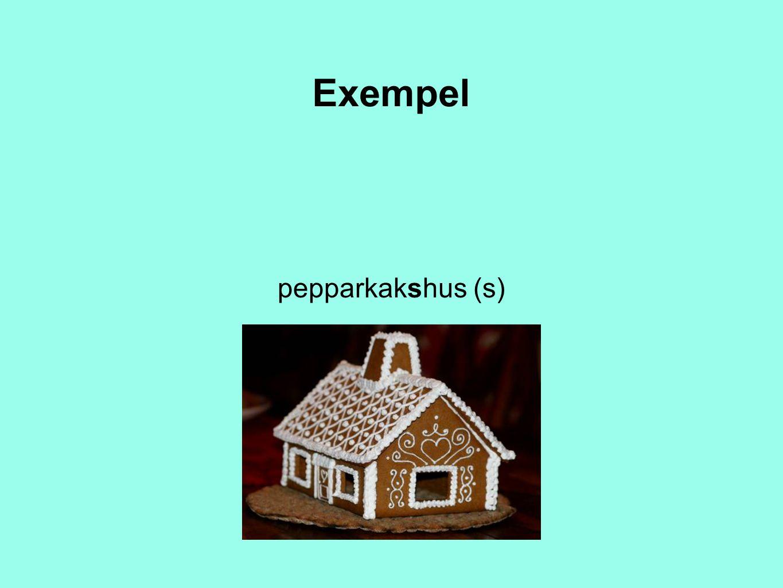 Exempel pepparkakshus (s)