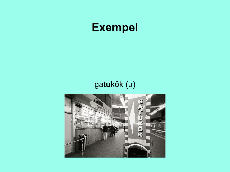 Exempel gatukök (u)
