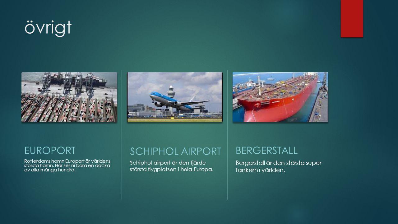 övrigt EUROPORT SCHIPHOL AIRPORT BERGERSTALL
