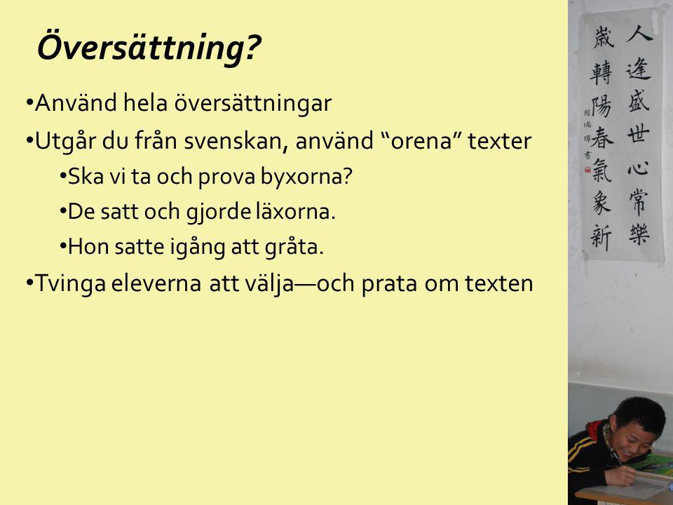 Översättning Använd hela översättningar