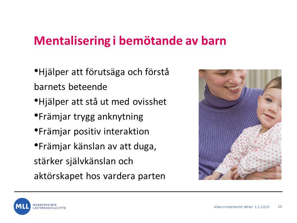 Mentalisering i bemötande av barn