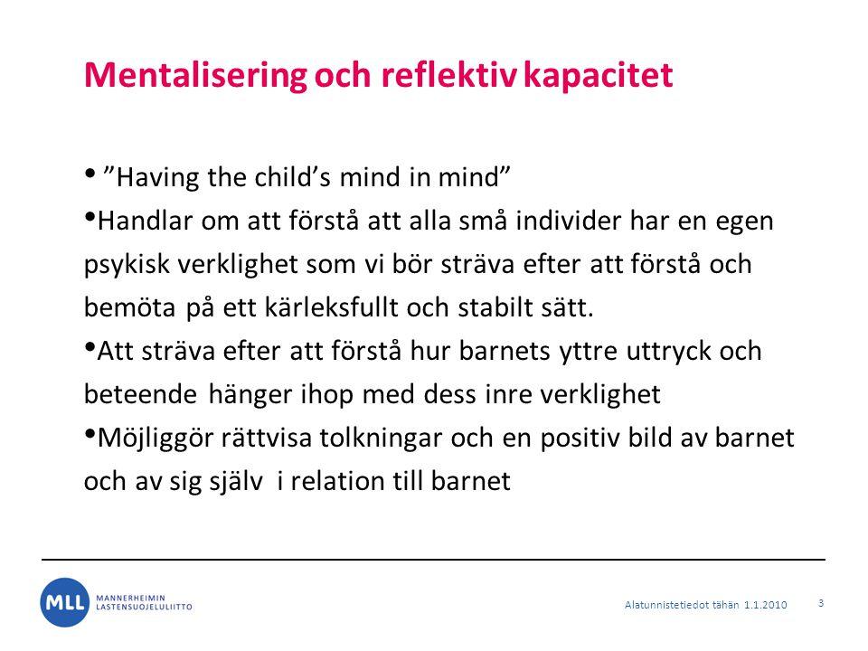 Mentalisering och reflektiv kapacitet