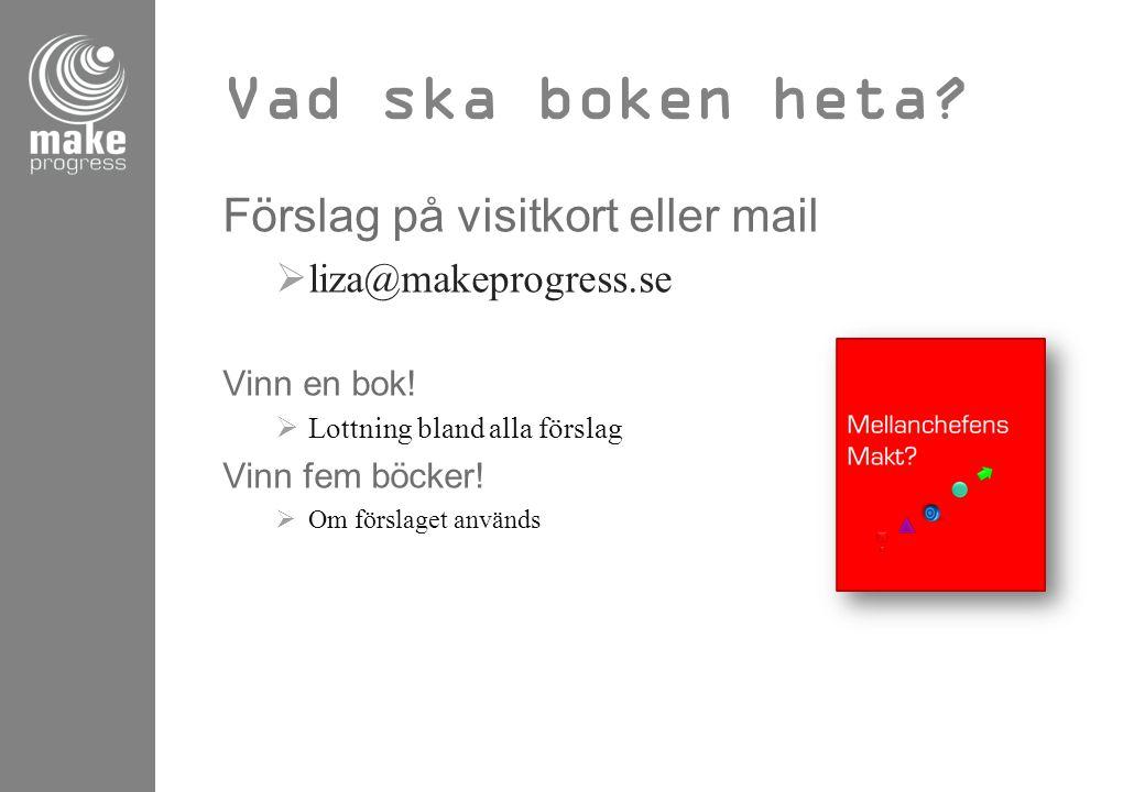 Vad ska boken heta Förslag på visitkort eller mail