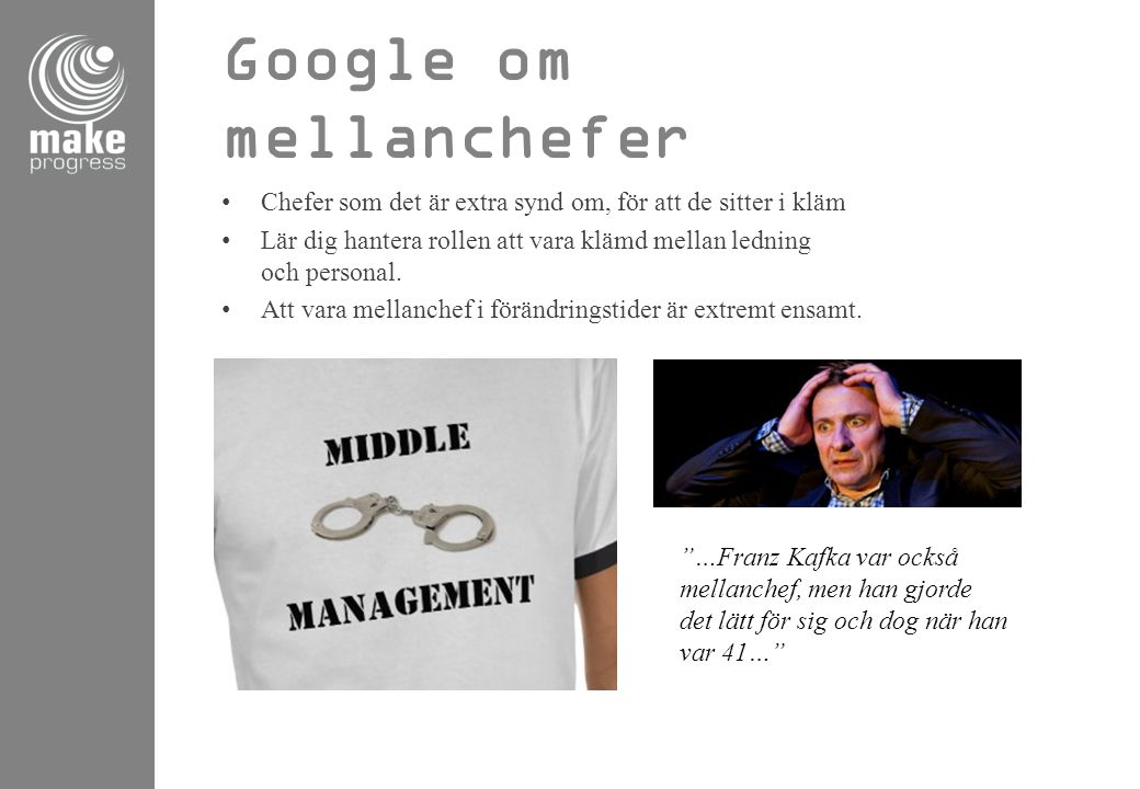 Google om mellanchefer