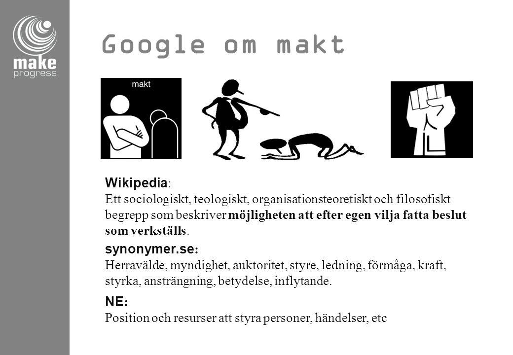 Google om makt Wikipedia: