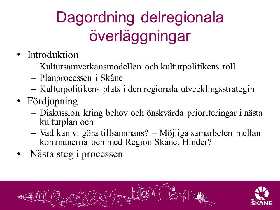 Dagordning delregionala överläggningar