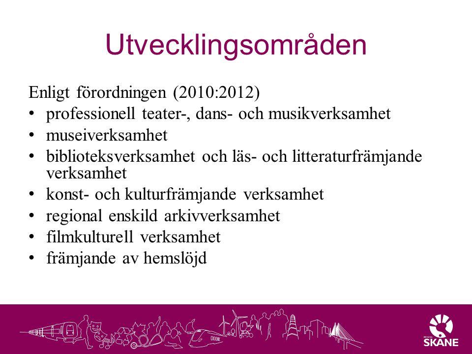Utvecklingsområden Enligt förordningen (2010:2012)