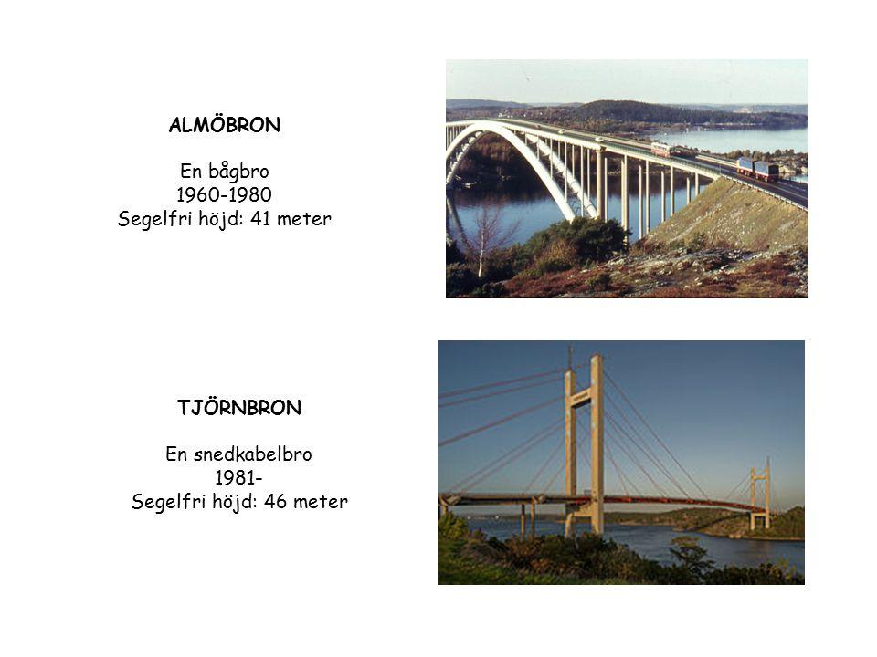 ALMÖBRON En bågbro 1960-1980 Segelfri höjd: 41 meter
