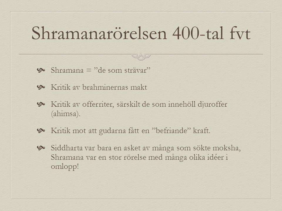 Shramanarörelsen 400-tal fvt