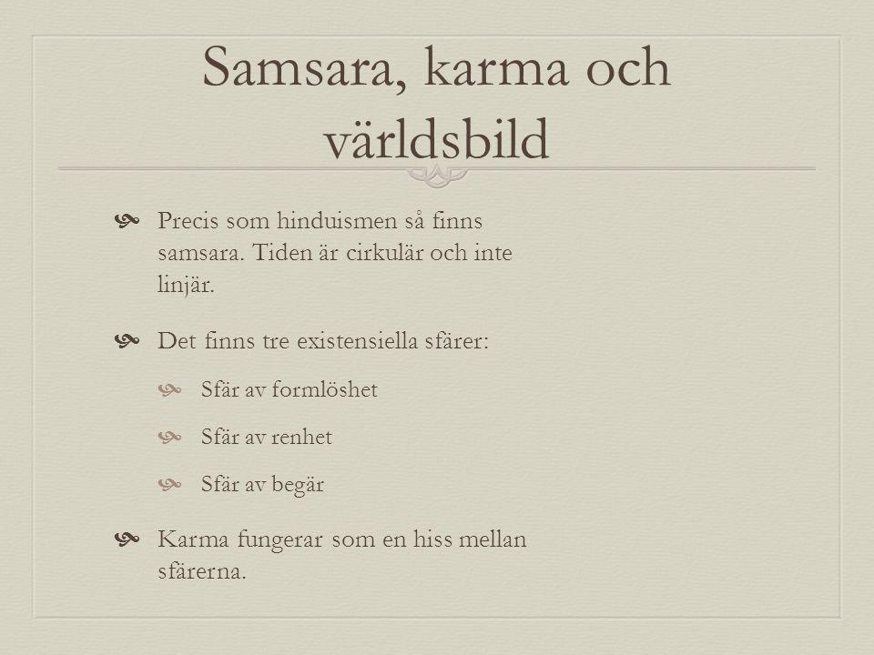 Samsara, karma och världsbild