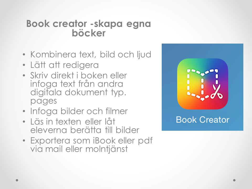 Book creator -skapa egna böcker