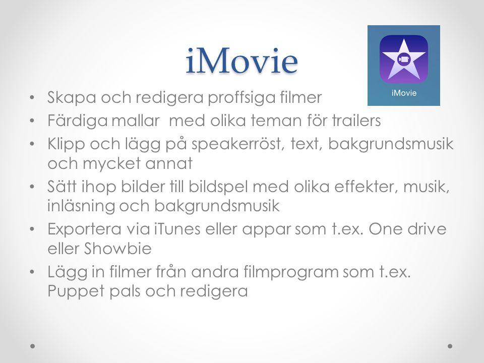 iMovie Skapa och redigera proffsiga filmer