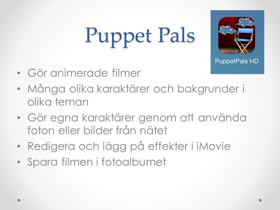 Puppet Pals Gör animerade filmer