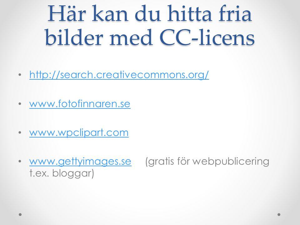 Här kan du hitta fria bilder med CC-licens