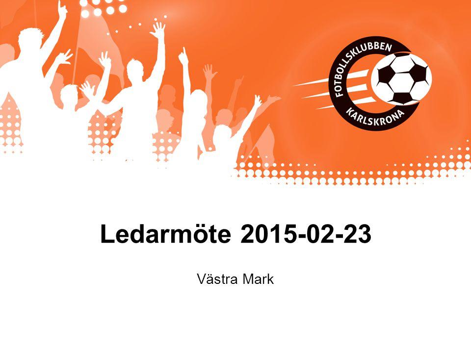 Ledarmöte 2015-02-23 Västra Mark