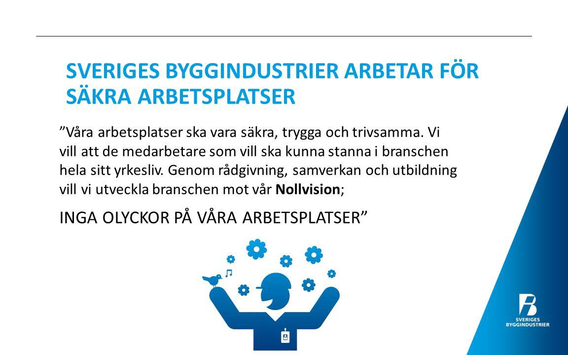 SVERIGES BYGGINDUSTRIER ARBETAR FÖR SÄKRA ARBETSPLATSER