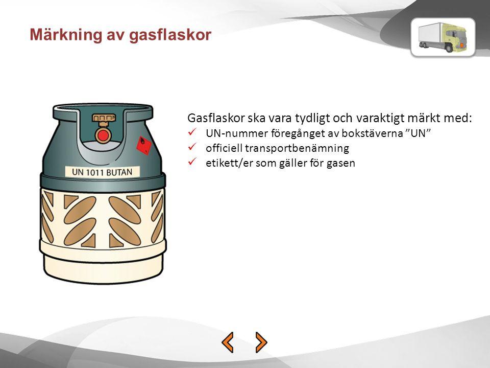 Märkning av gasflaskor