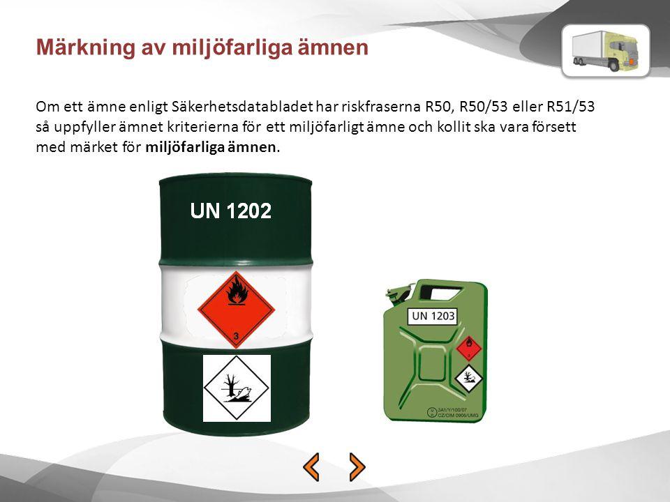 Märkning av miljöfarliga ämnen