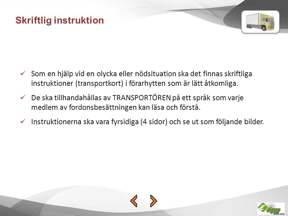 Skriftlig instruktion
