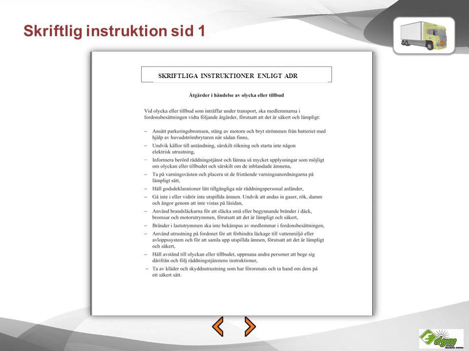 Skriftlig instruktion sid 1