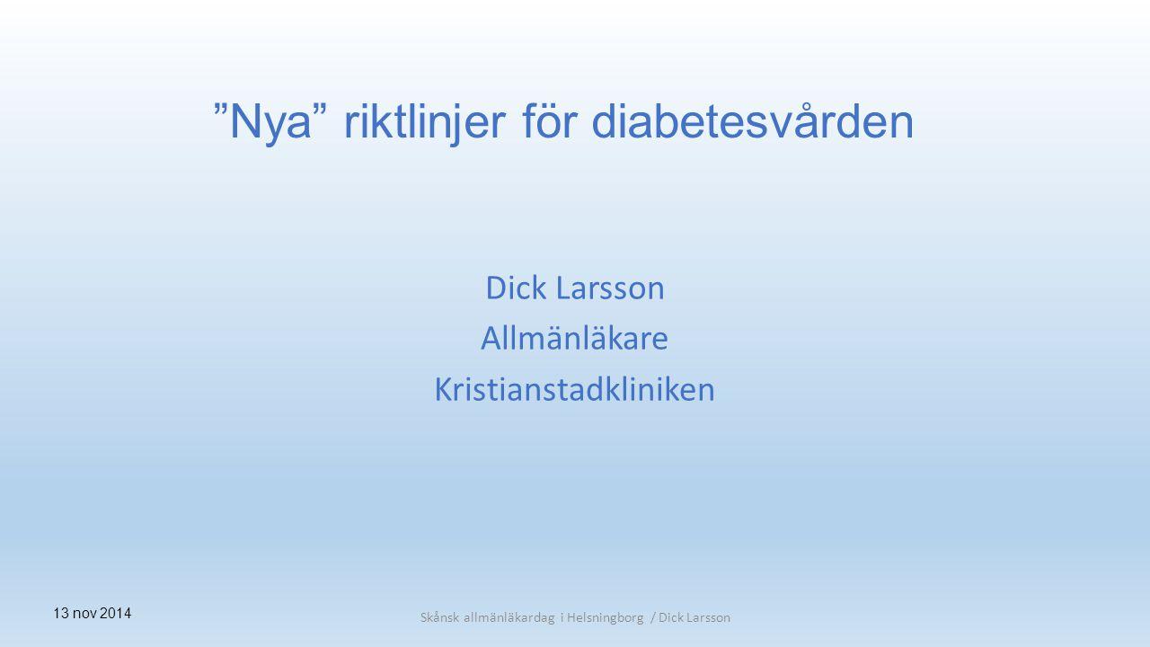 Dick Larsson Allmänläkare Kristianstadkliniken