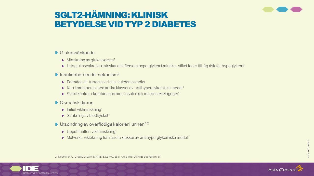 SGLT2-hämning: klinisk betydelse vid typ 2 diabetes