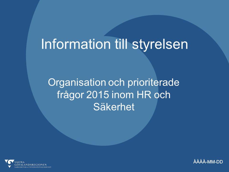 Information till styrelsen
