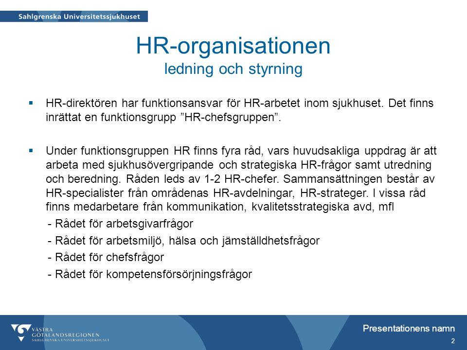 HR-organisationen ledning och styrning