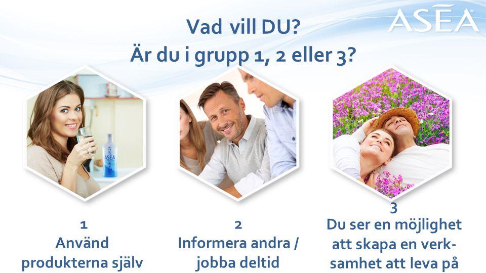 Vad vill DU Är du i grupp 1, 2 eller 3 3
