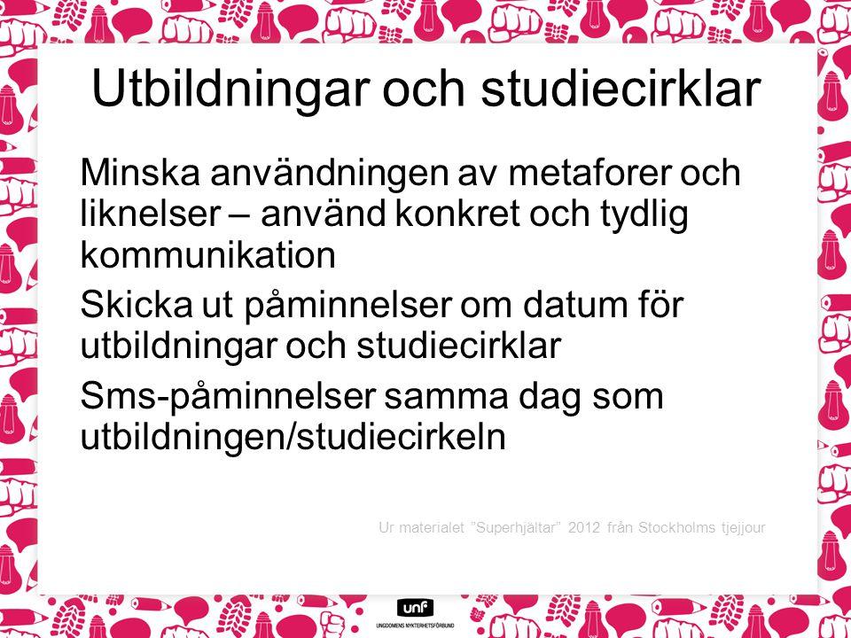 Utbildningar och studiecirklar