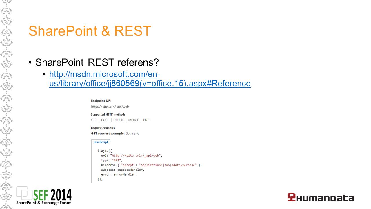 SharePoint & REST SharePoint REST referens