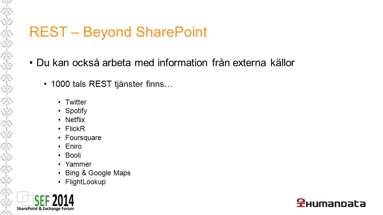 REST – Beyond SharePoint