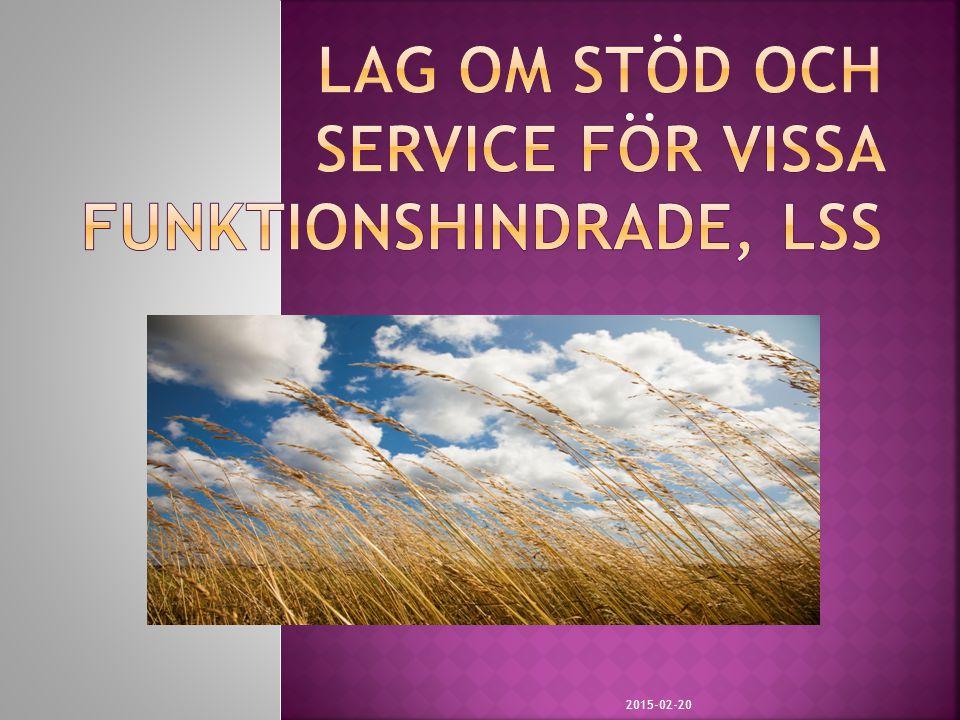 Lag om stöd och service för vissa funktionshindrade, LSS