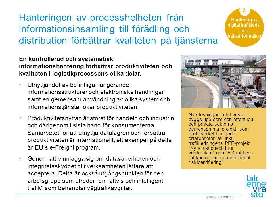 Hantering av digital trafikleds- och trafikinformation