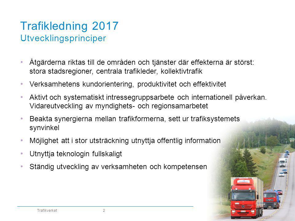Trafikledning 2017 Utvecklingsprinciper