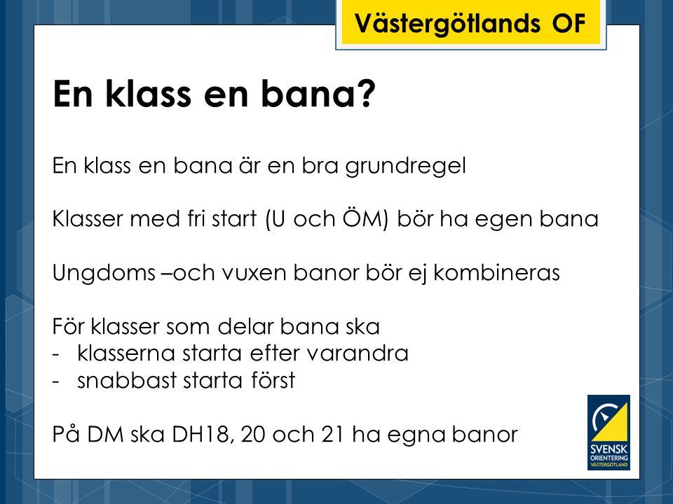 En klass en bana Västergötlands OF