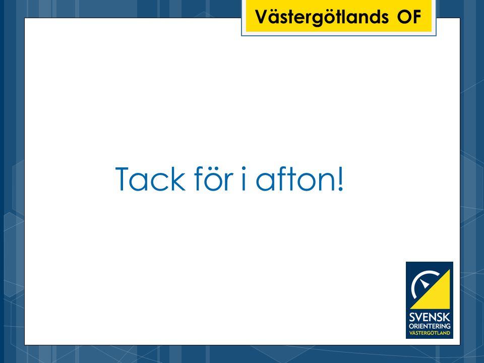 Västergötlands OF Tack för i afton!