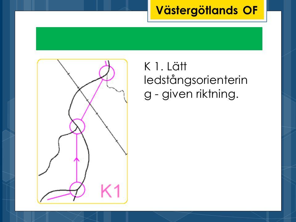 Västergötlands OF K 1. Lätt ledstångsorientering - given riktning.