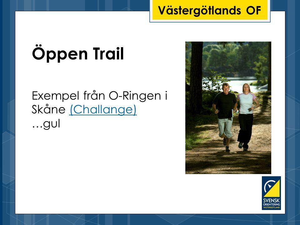 Öppen Trail Västergötlands OF Exempel från O-Ringen i