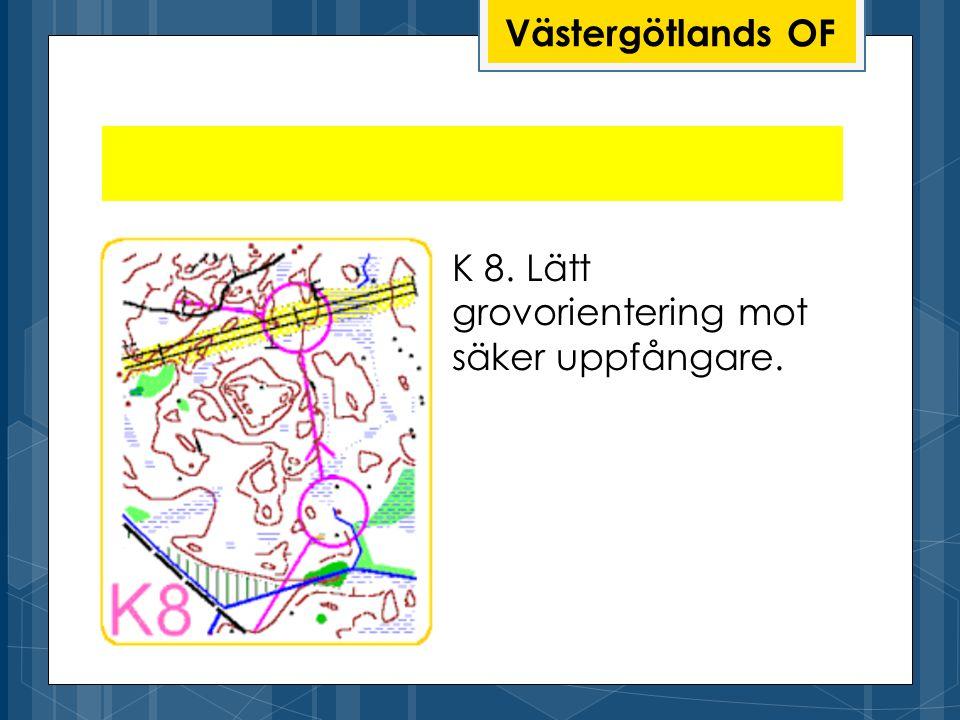 Västergötlands OF K 8. Lätt grovorientering mot säker uppfångare.