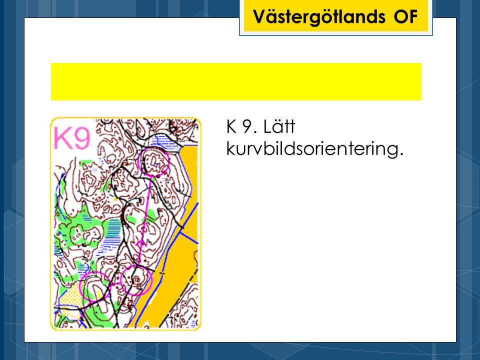 Västergötlands OF K 9. Lätt kurvbildsorientering.