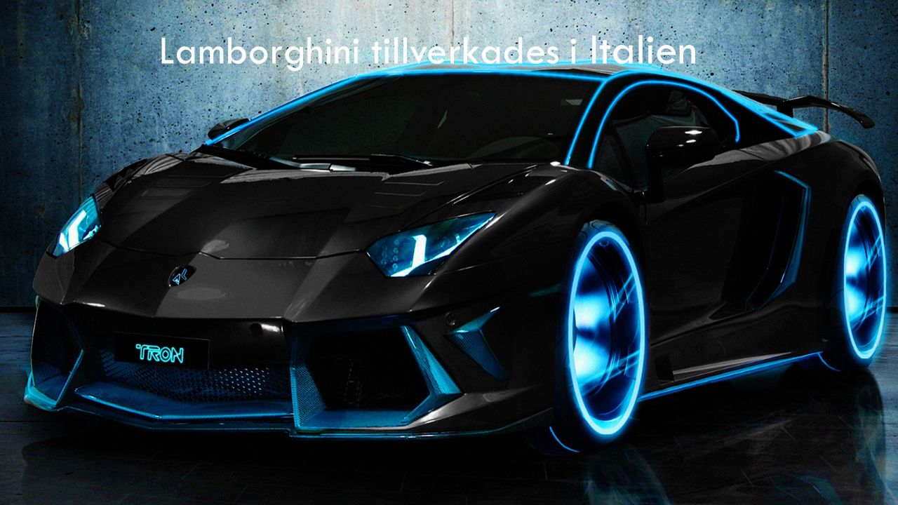 Lamborghini tillverkades i Italien