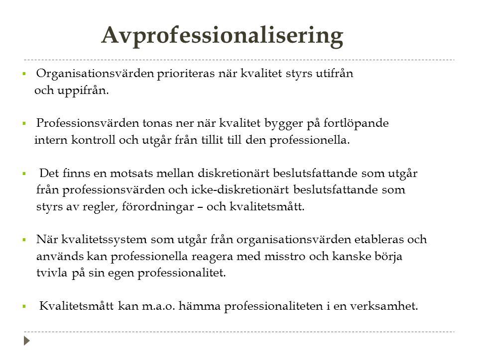 Avprofessionalisering
