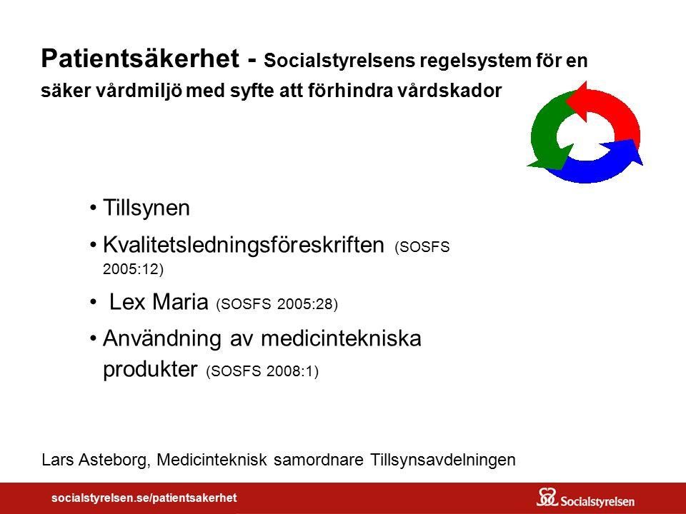 Lars Asteborg, Medicinteknisk samordnare Tillsynsavdelningen