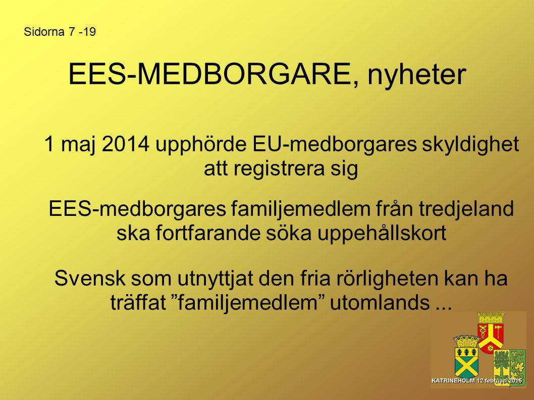 EES-MEDBORGARE, nyheter