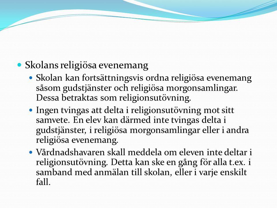 Skolans religiösa evenemang